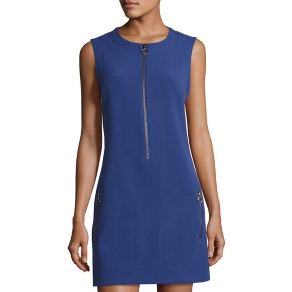5e8205e3a08c Royal Blue Zip Front Dress Size M